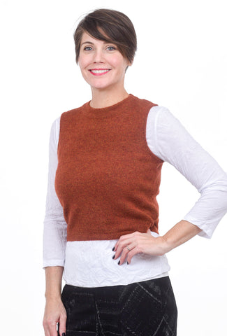 Kerisma Knits Tara Sweater Vest, Brick Red
