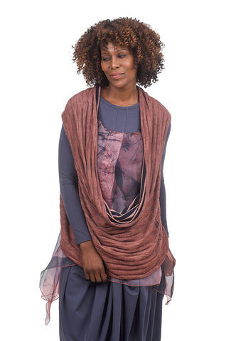 Luukaa Beverly Scarf Topper, Cinnamon One Size Cinammon