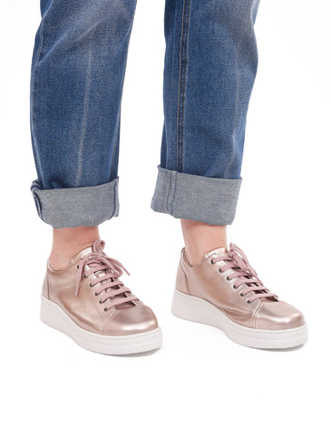 Camper Runner Up Sneaker, Pink Metallic