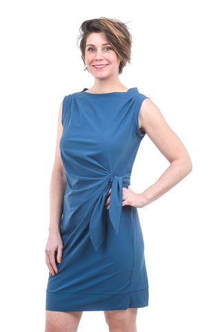 Porto Zoe Jet Jersey Dress, Bermuda Blue