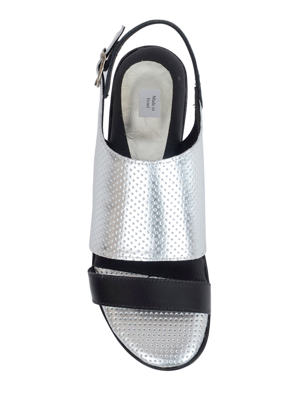 Mango Shoes Perforated Slingbacks, Silver