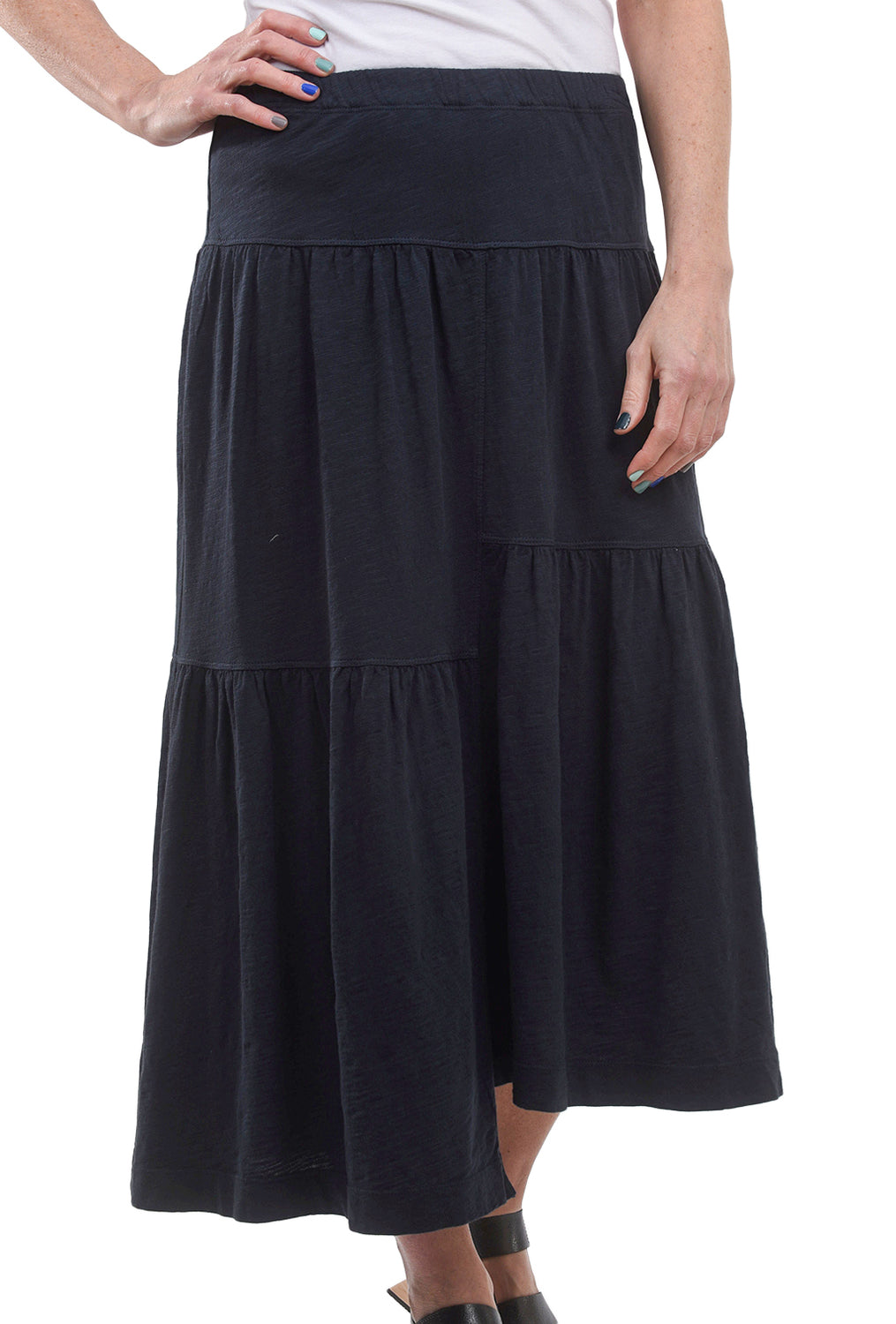 5b5a6f230 Wilt Shifted Tiered Long Skirt, Navy Ink – Evie Lou