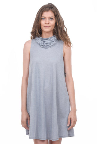 Coin1804 Face-Covering Funnel Dress, Chambray Navy