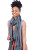 Blue Pacific Turkish Cotton Scarf, Denim Blue