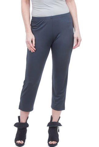 Comfy USA Basic Slim Cropped Pant, Charcoal