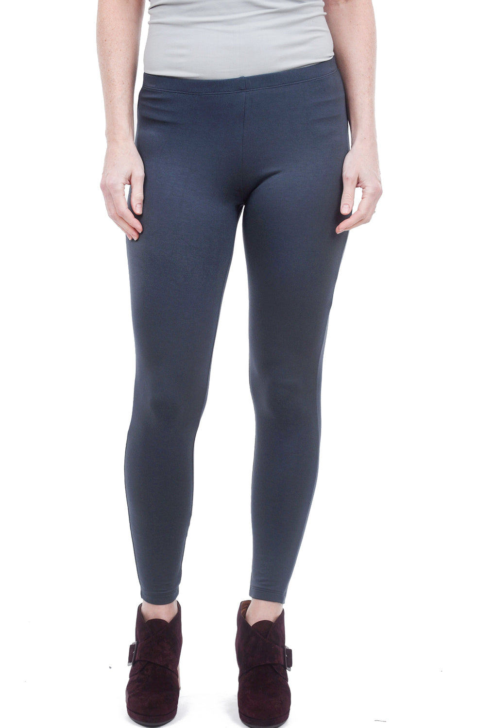 Comfy USA Comfy Basic Long Legging, Charcoal