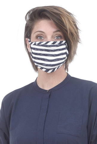 Coin1804 Coin Face Mask, Navy Stripe