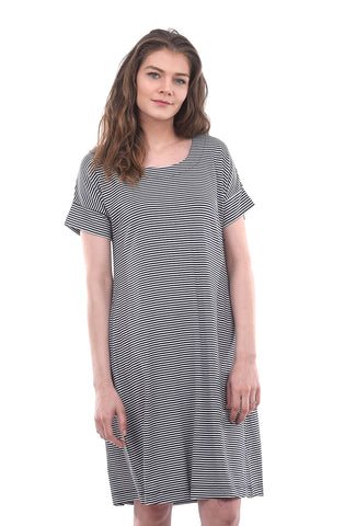 Two Danes Baja Bamboo Dress, Navy/White
