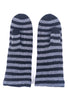 Two Danes Handy Mittens, Black Stripe One Size Black