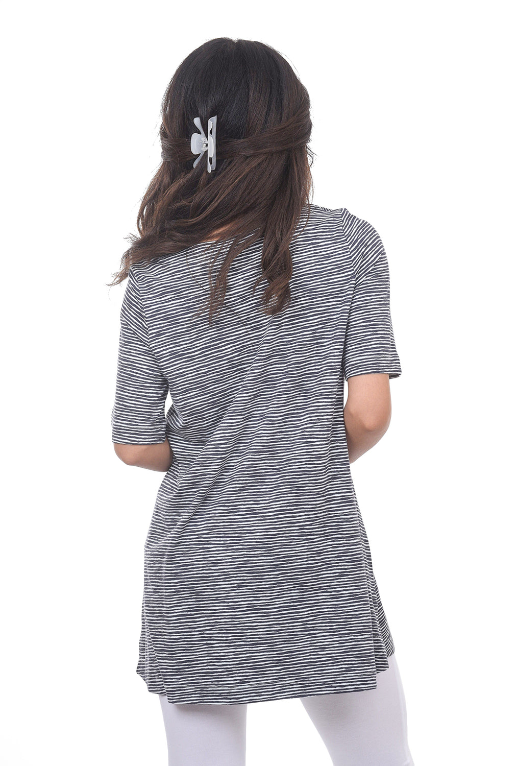 Two Danes Bee Tee Dress, Black/Off White