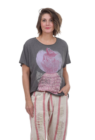 Magnolia Pearl New Boyfriend Tee, Mantra One Size Gray