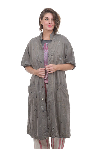 Magnolia Pearl Cropped Sleeve Workshop Coat, Chalkboard One Size Gray