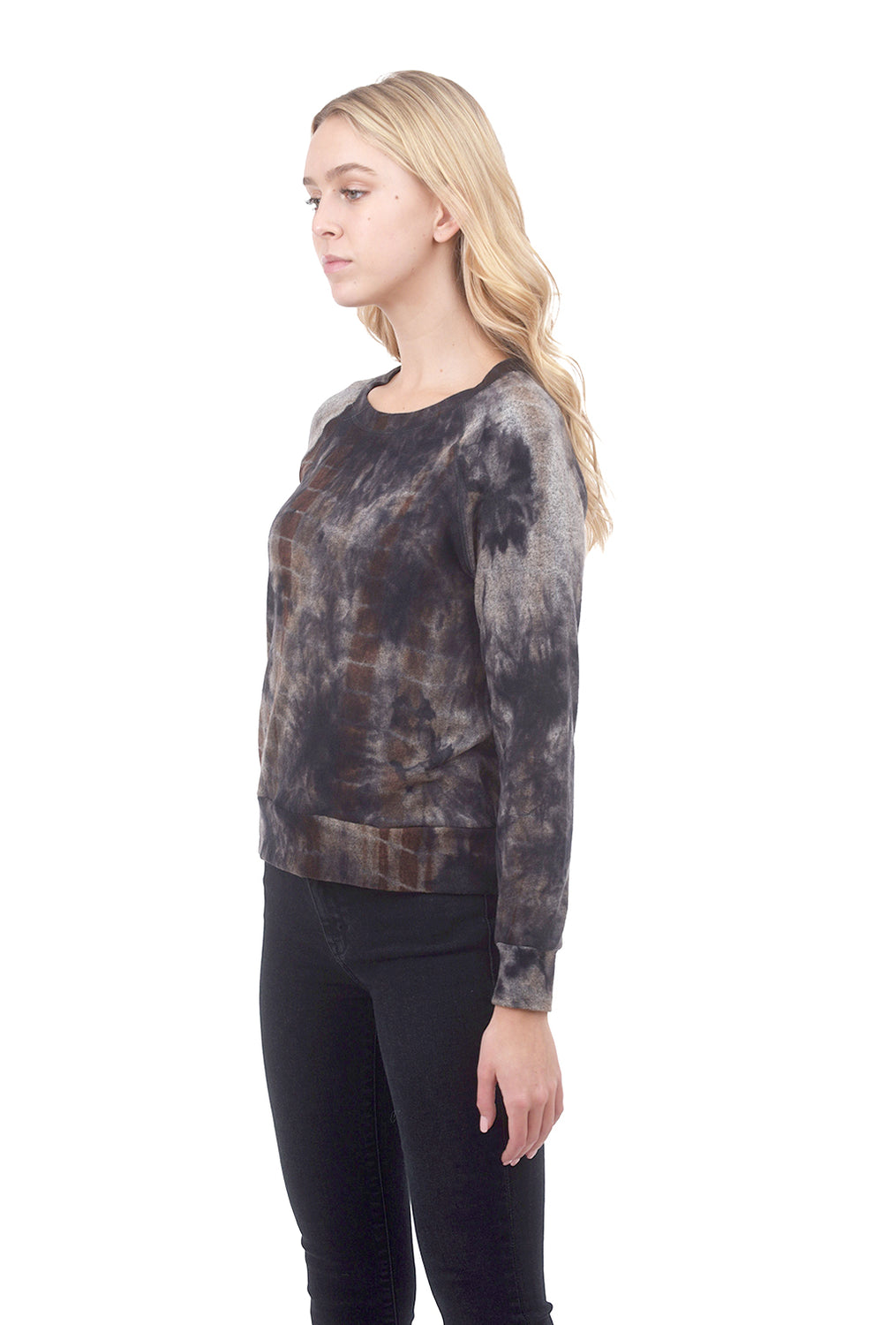 Coin1804 Cozy Tie-Dye Sweatshirt, Navy/Brown