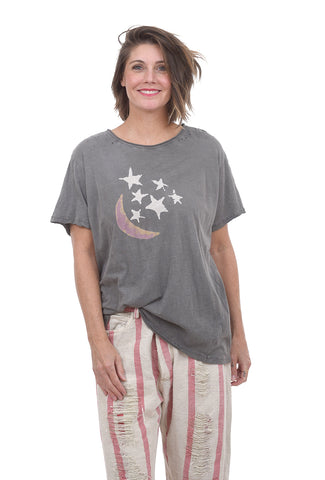 Magnolia Pearl New Boyfriend Tee, And The Stars One Size Gray