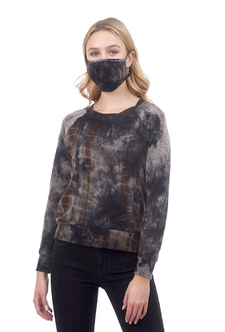 Coin1804 Cozy Tie-Dye Mask, Navy/Brown One Size Brown