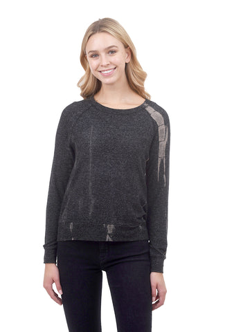 Coin1804 Cozy Tie-Dye Sweatshirt, Charcoal/Taupe