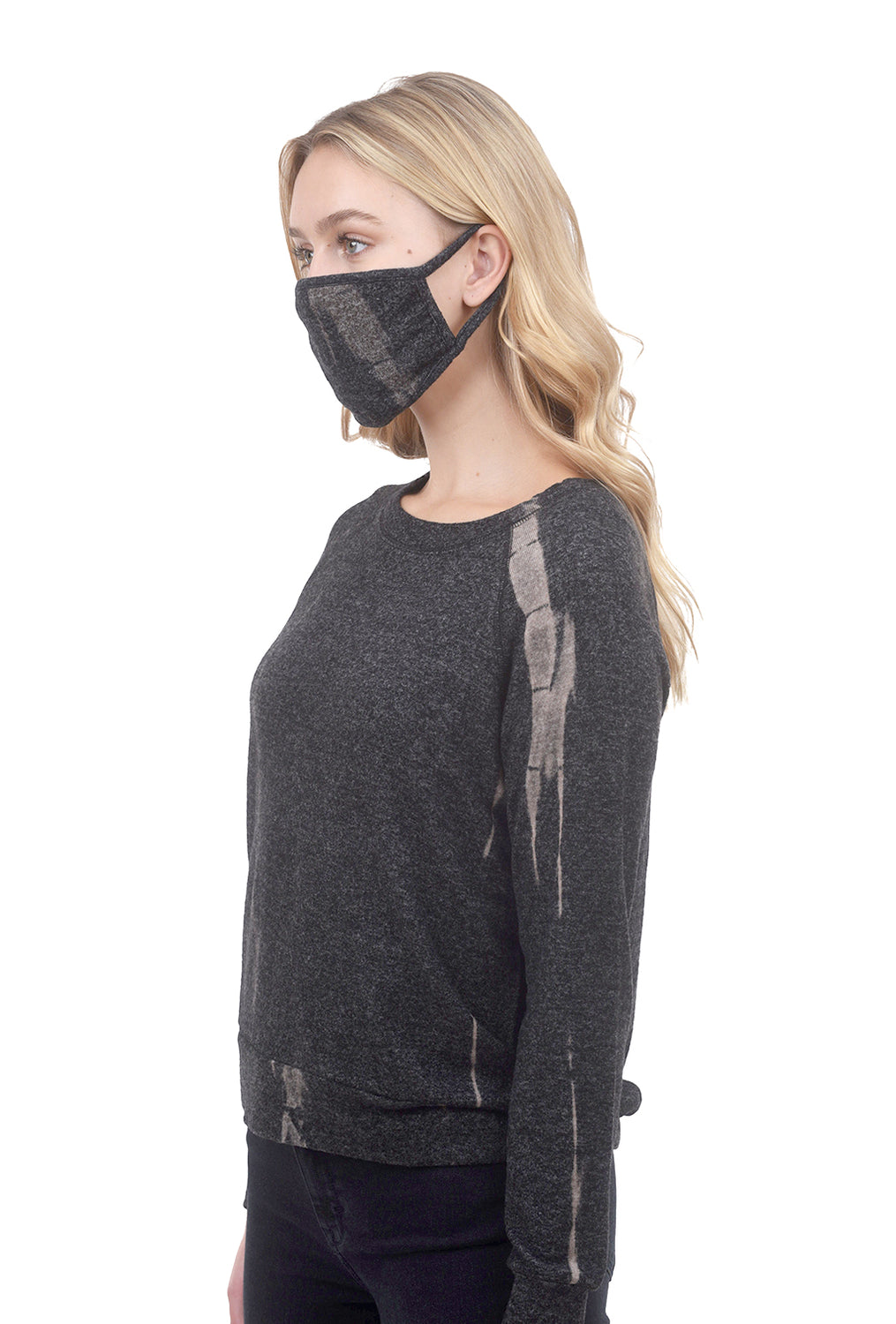 Coin1804 Cozy Tie-Dye Mask, Char/Taupe One Size Charcoal