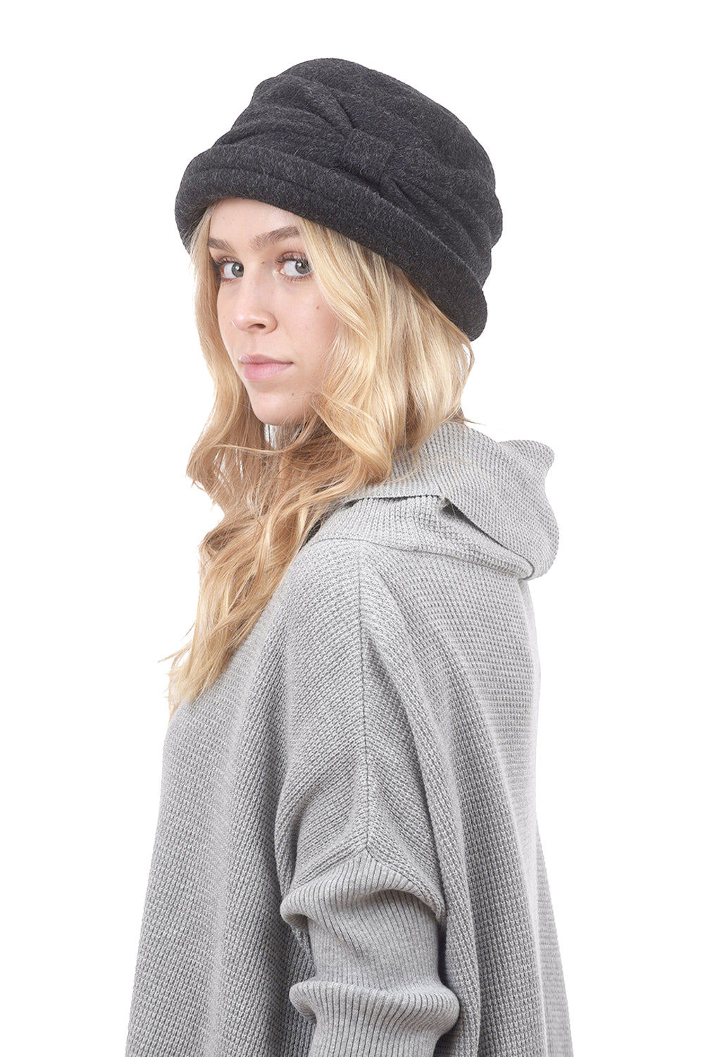 Lillie & Cohoe Hats Mohair Jeanette Hat, Charcoal
