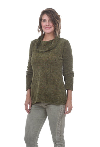 Habitat Clothing Chenille Cowlneck Sweater, Olive
