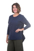 Cut Loose LJ Boxy Top, Blue Moon