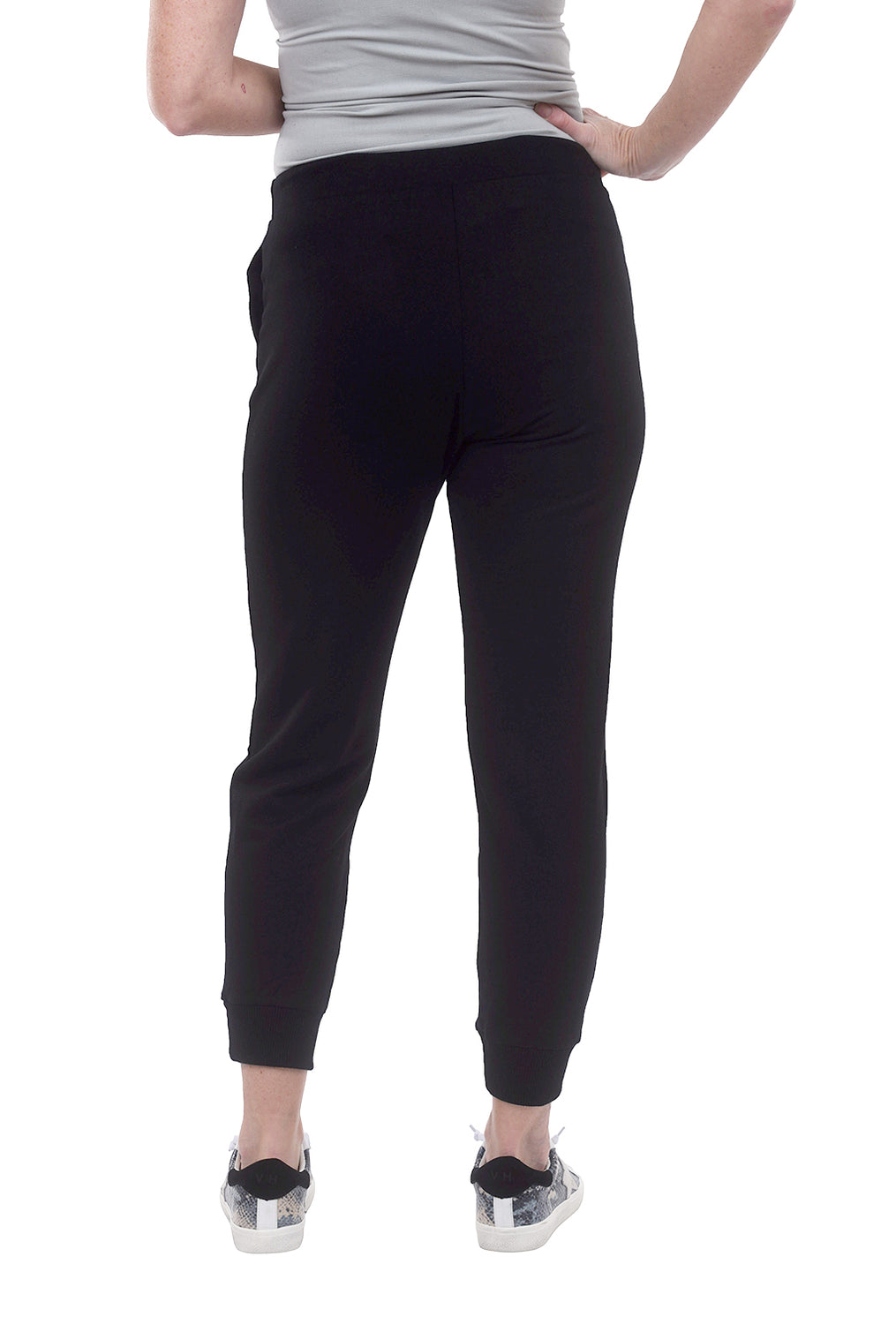 Capote Sleek Jersey Joggers, Black
