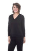 Capote Cozy-Sleek Jersey V-Neck, Black