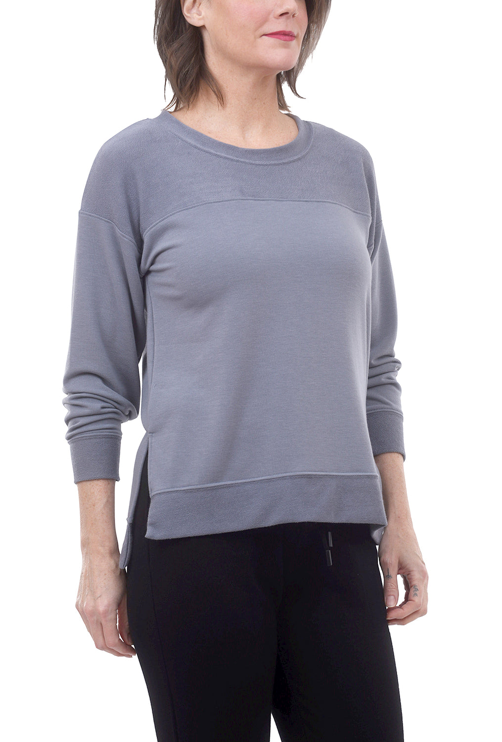Nally & Millie FT Inside-Out Sweatshirt, Slate Gray