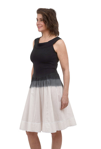 Luna Luz Ombre Bodice Sundress, Black/White