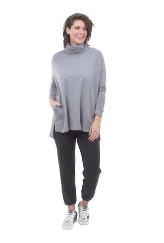 Capote Cozy Jersey Tneck Tunic, Pale Blue