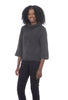 Lilla P Easy Boucle Tneck Sweater, Coal