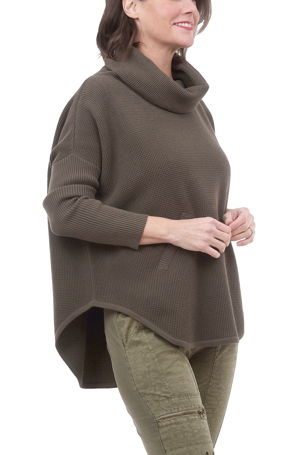 Planet Perfect Waffle Cowl, Drab One Size Drab