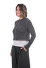 Cut Loose Boiled Wool Cropped Cardie, Pavement