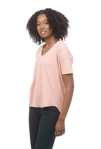Coin1804 CJ V-Neck Dolman Tee, Rose