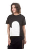 Alembika Applique Heart Jersey Tee, Black