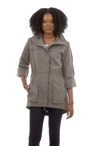 Anorak The Crinkle Nylon Anorak, Moonrock Gray