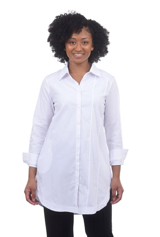 Luukaa Crisp Shirting Tunic, White