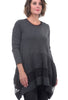 Luukaa FT Mesh Inset Tunic, Anthracite