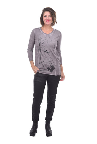 Luukaa Abstract Illo Tee, Light Plum