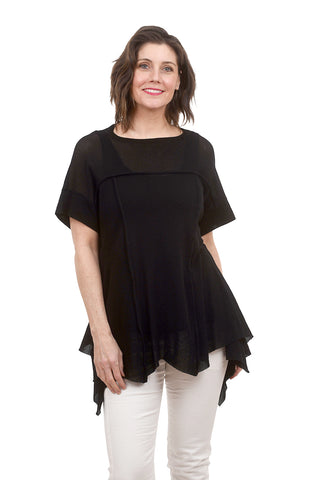 Ozai n Ku Muguet Knit Top, Black
