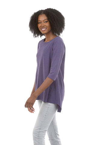 Cut Loose 3/4-Sleeve Long Tee, Dewberry