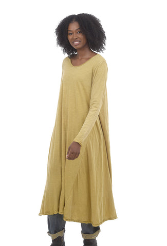 Magnolia Pearl Cotton Jersey Tee Dress, Marigold One Size Marigold