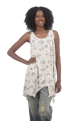 Magnolia Pearl Print Paz Tank, Acanthus One Size Acanthus