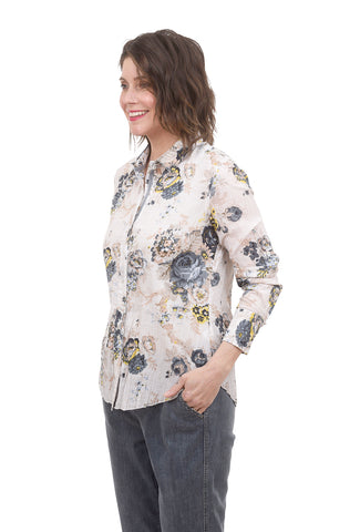 Cino Crinkle Cotton Shirt, Washed Roses