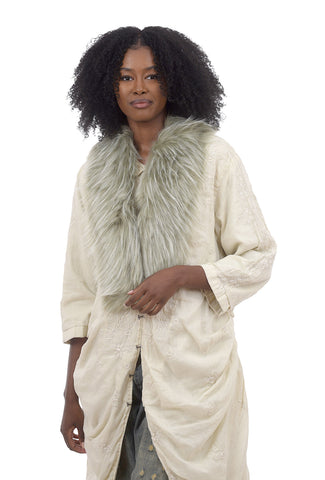Summum Faux Fur Collar, Eucalyptus One Size Eucalyptus