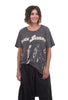 Magnolia Pearl New Boyfriend Tee, Black Sabbath Shadows One Size Gray