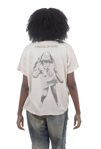 Magnolia Pearl New Boyfriend Tee, Dancing Since I Was 5 One Size Off-White
