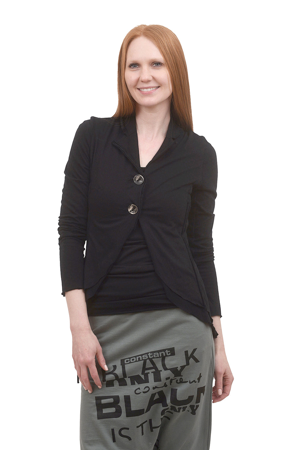 Studio B3 Nolan Jersey Jacket, Black