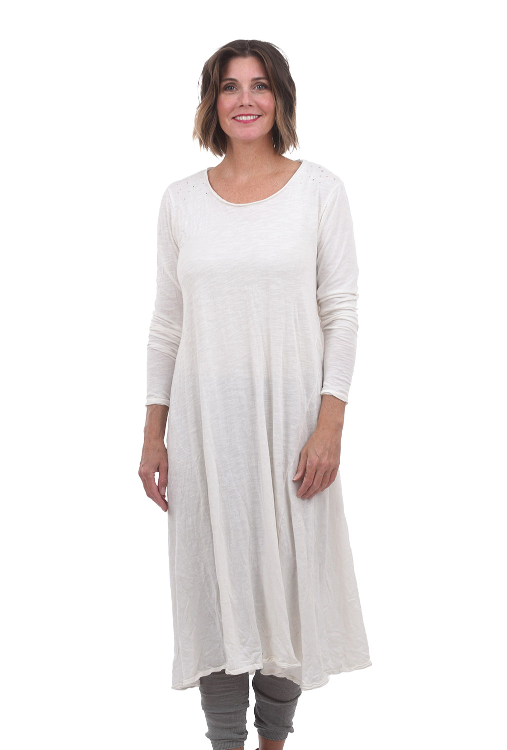 Magnolia Pearl L/S Jersey MP Dress, True Off-White One Size Off-White