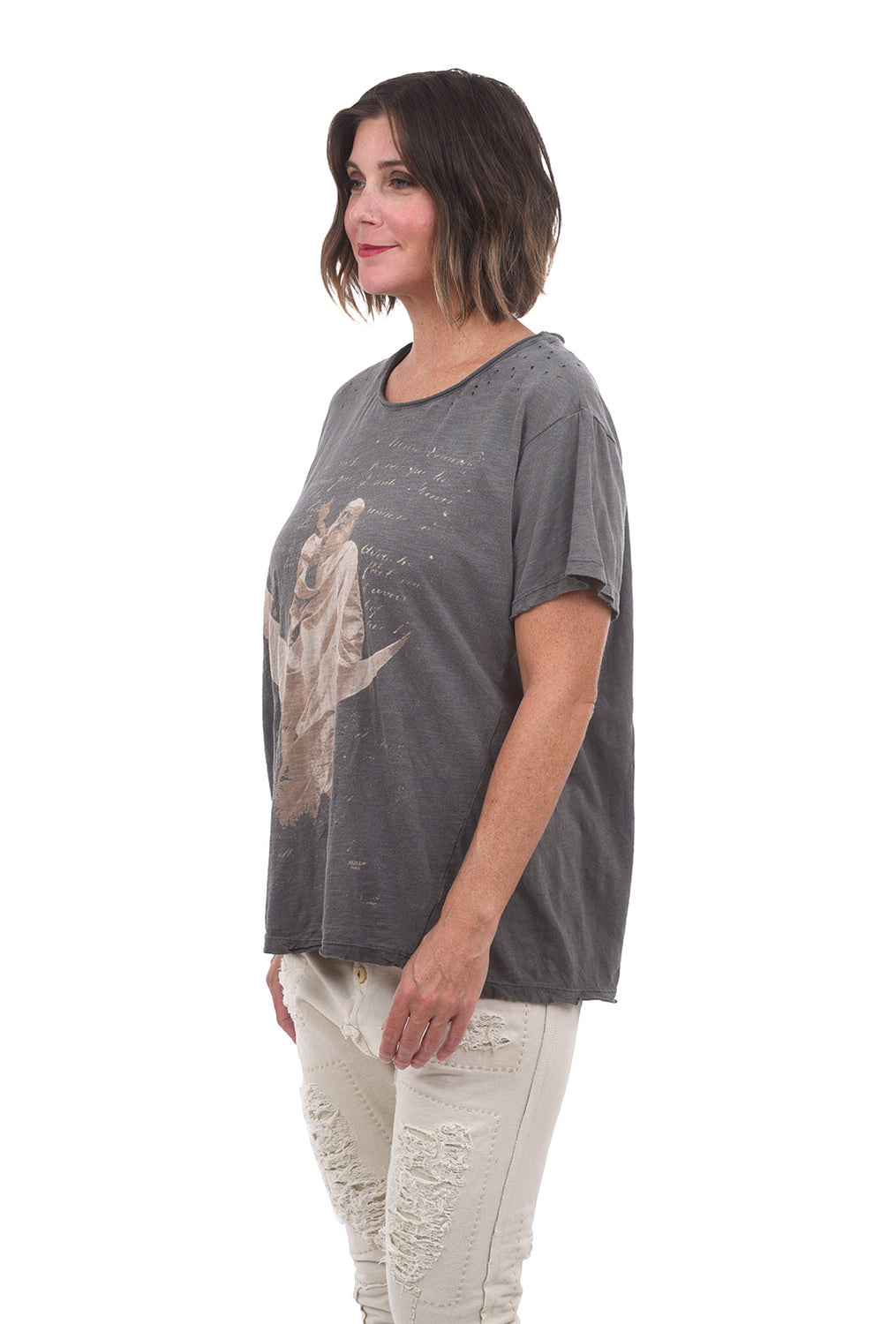 Magnolia Pearl New Boyfriend Tee, Keeper of the Moon One Size Gray