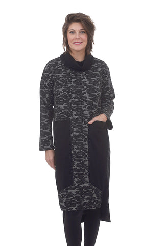 Gershon Bram Kristen Dress, Black/White